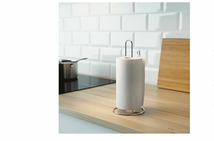 Ikea kitchen roll paper holder silver colour torkad towel for Ikea towel stand