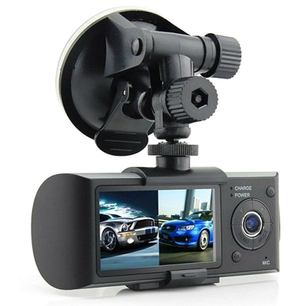 car recorder r300 dual lens dvr video camera vehicle dash. Black Bedroom Furniture Sets. Home Design Ideas