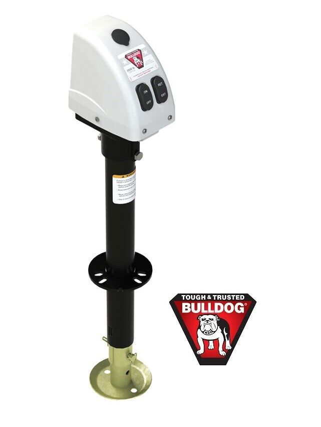 bulldog electric jacks fulton bulldog 3500lb electric power trailer tongue jack 9921