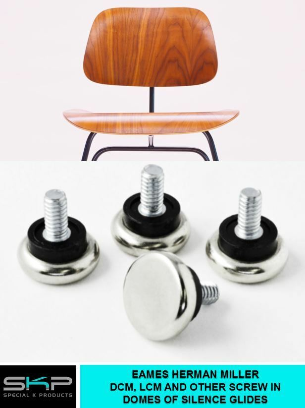 glides for eames herman miller dcm lcm domes of silence