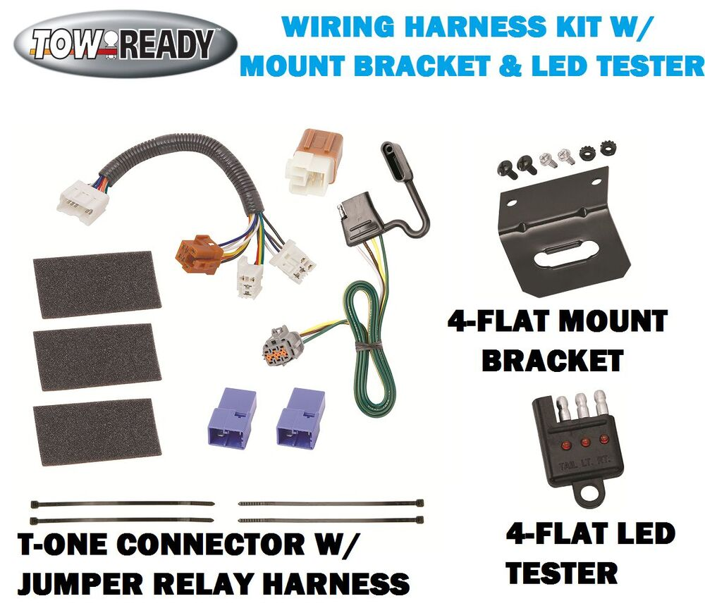 Trailer Hitch Wiring Harness Bracket : Trailer hitch wiring w bracket tester fits nissan