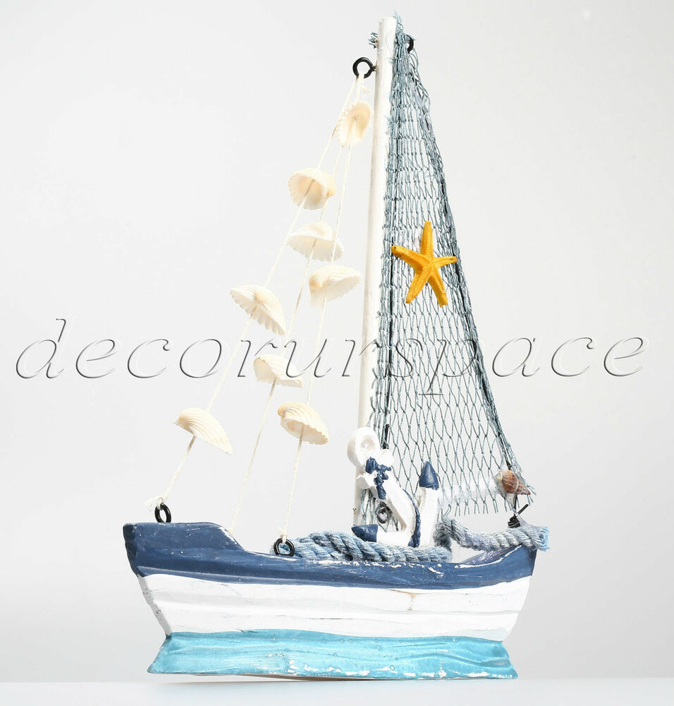 8 3 wooden fishing boat home decoration nautical decor for Fishing decorations for home