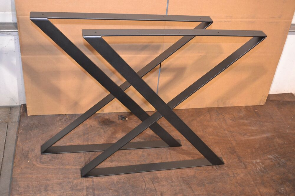 Industrial Steels Flat Bar Style Metal Table Desk Bench