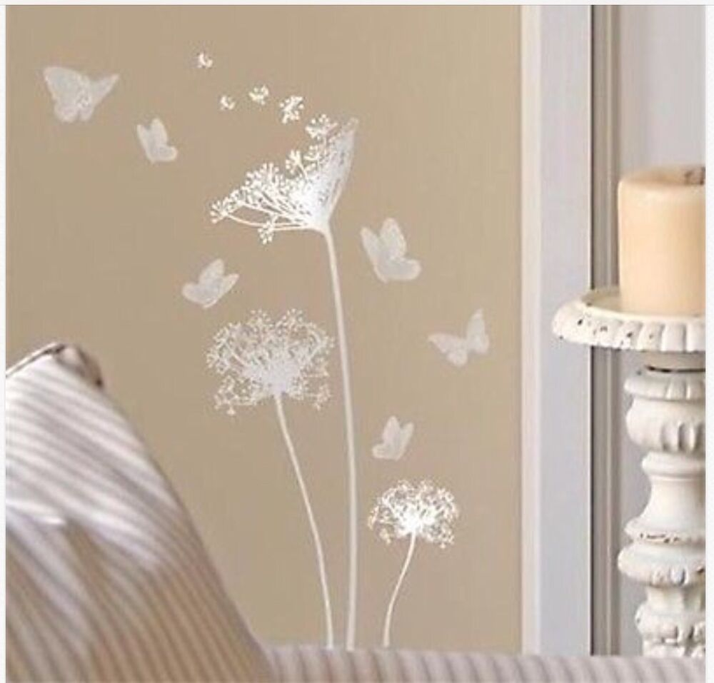 silver main street wall creations dandelions amp butterflies silver star wall decals wall sticker nursery wall by