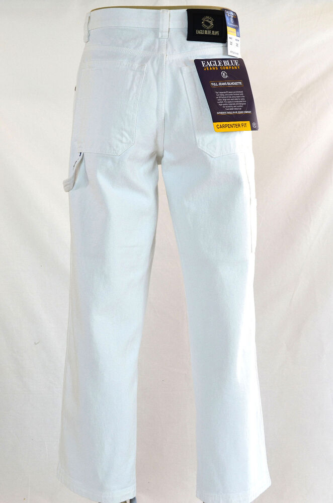 men eagle blue jeans relaxed classic straight painter
