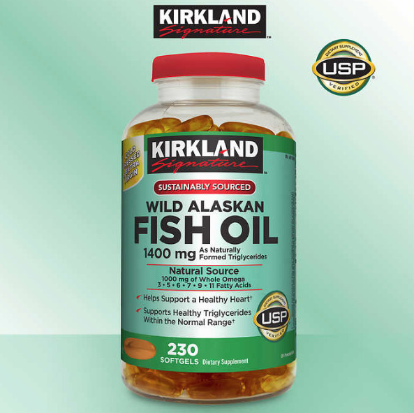 Wild alaskan fish oil omega 3 kirkland signature new for Fish oil is good for