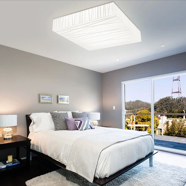 modern square led ceiling light living dining room bedroom 12w lamp warm white ebay. Black Bedroom Furniture Sets. Home Design Ideas