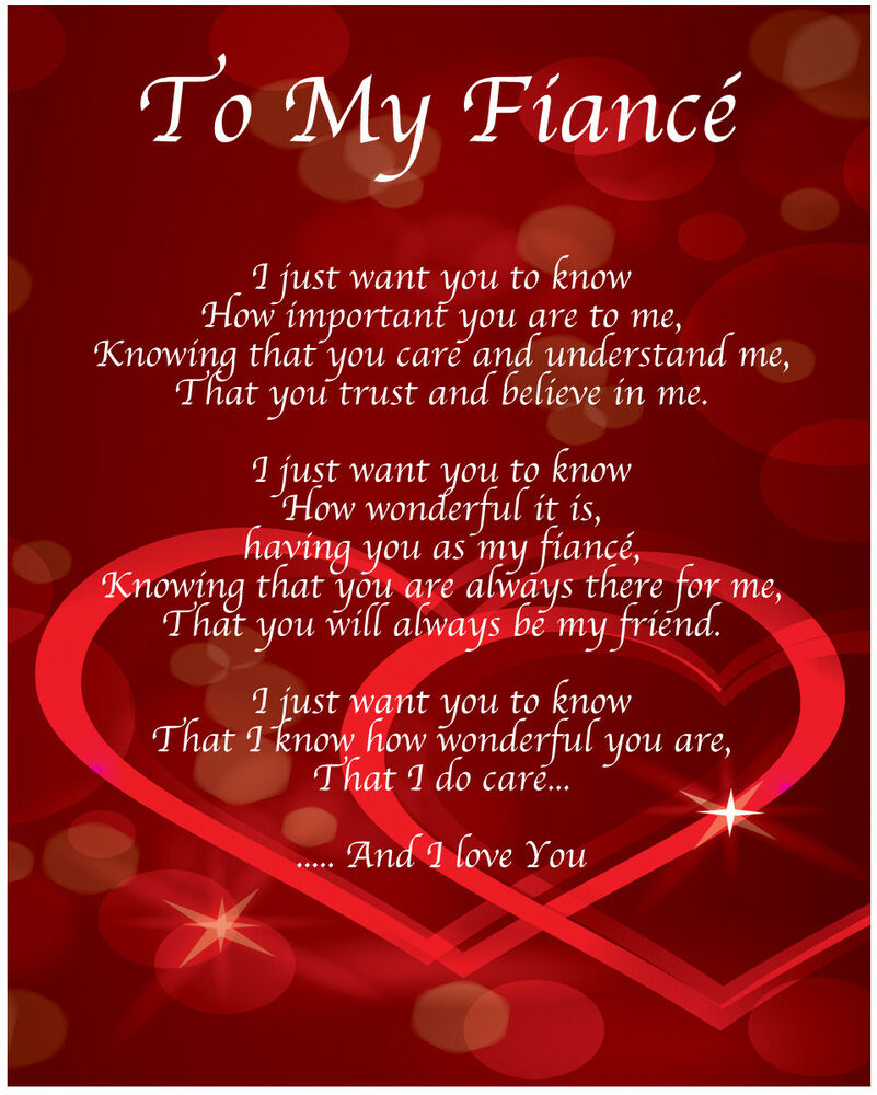 Happy Birthday Poems For Him Cute Poetry For Boyfriend Or: To My Fiance Poem Birthday Christmas Valentines Day Gift