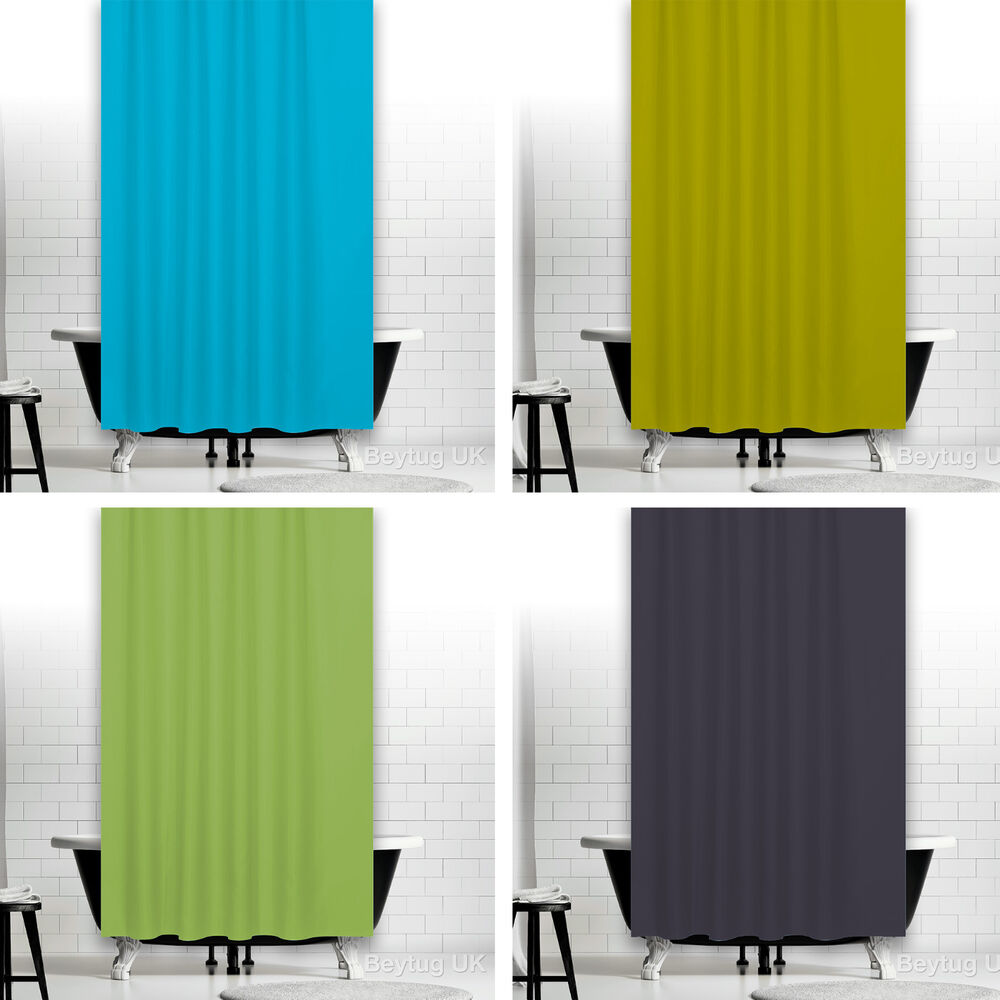 Beautiful Fabric Shower Curtains Extra Long or Wide, Green, Grey,Blue In 5 Sizes  eBay