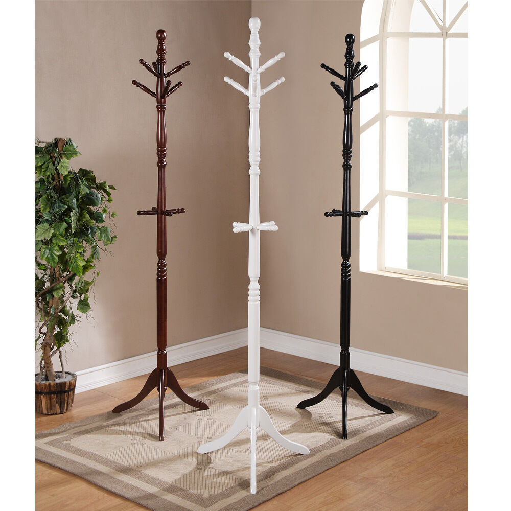 Classic Office Entryway Hallway Wooden Coat Rack Tree Hat ...