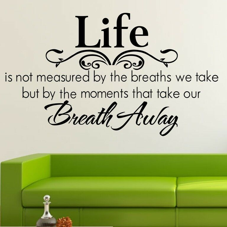 Aerosmith Breathing Quote Vinyl Wall Art Sticker Decal: Life Breath Away Wall Quote Removable Art Decal Vinyl