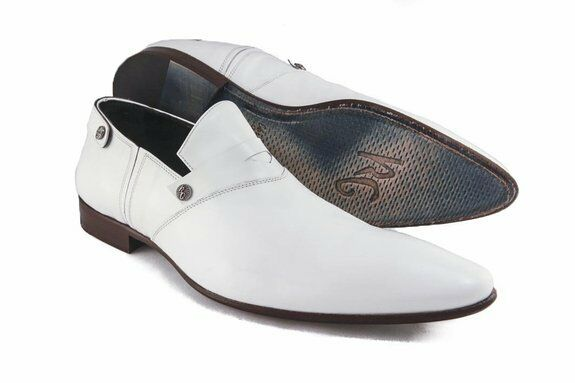 roberto guerrinib 2261 s white leather slip on shoes