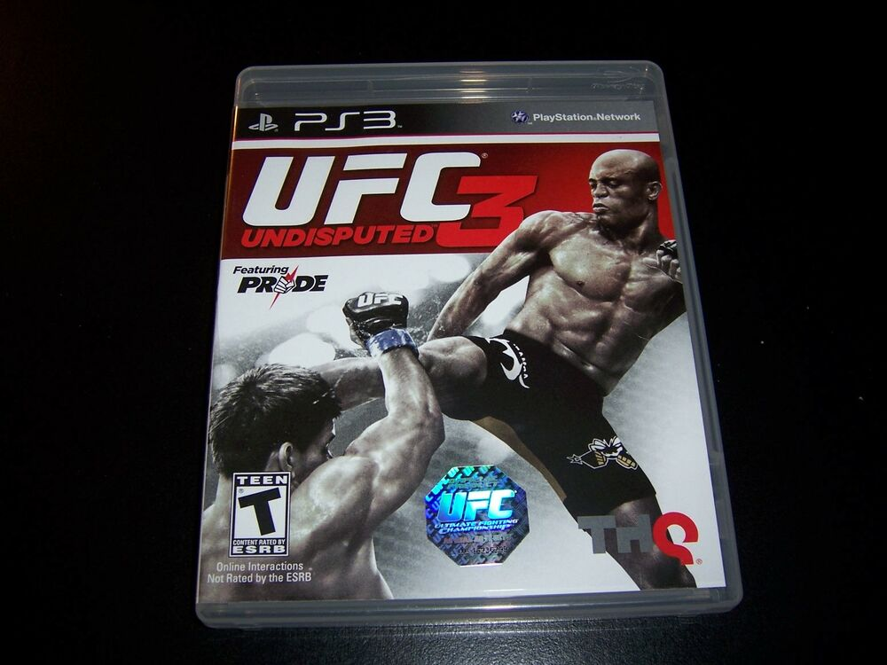 Replacement Case (NO GAME) UFC 3 UNDISPUTED PS3 ...