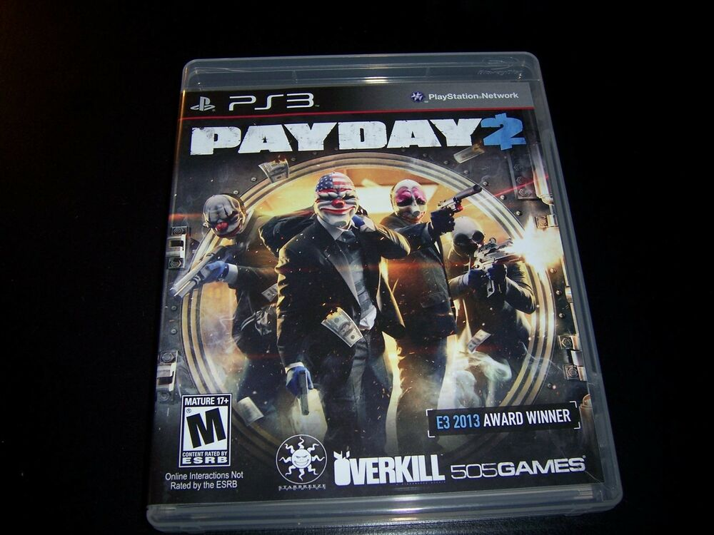 Payday 2 Payday Game Payday 3: Replacement Case (NO GAME) PAYDAY 2 PLAYSTATION 3 PS3