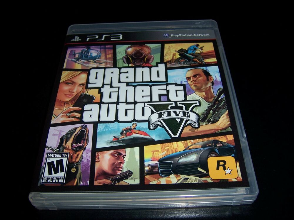 replacement case no game grand theft auto five 5. Black Bedroom Furniture Sets. Home Design Ideas