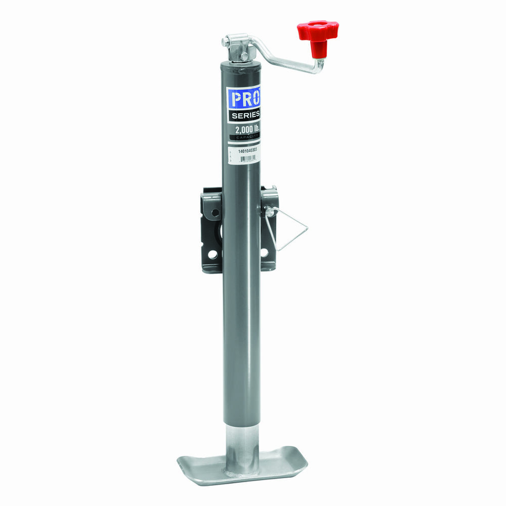 Pro Series Round Trailer Jack 2000 Lbs Weld On Topwind