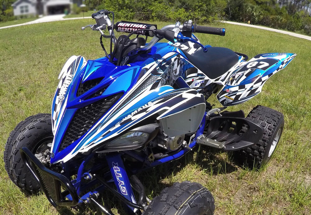 yamaha raptor 700 700r graphics 2013 2014 2015 custom deco kit 2500 blue ebay. Black Bedroom Furniture Sets. Home Design Ideas