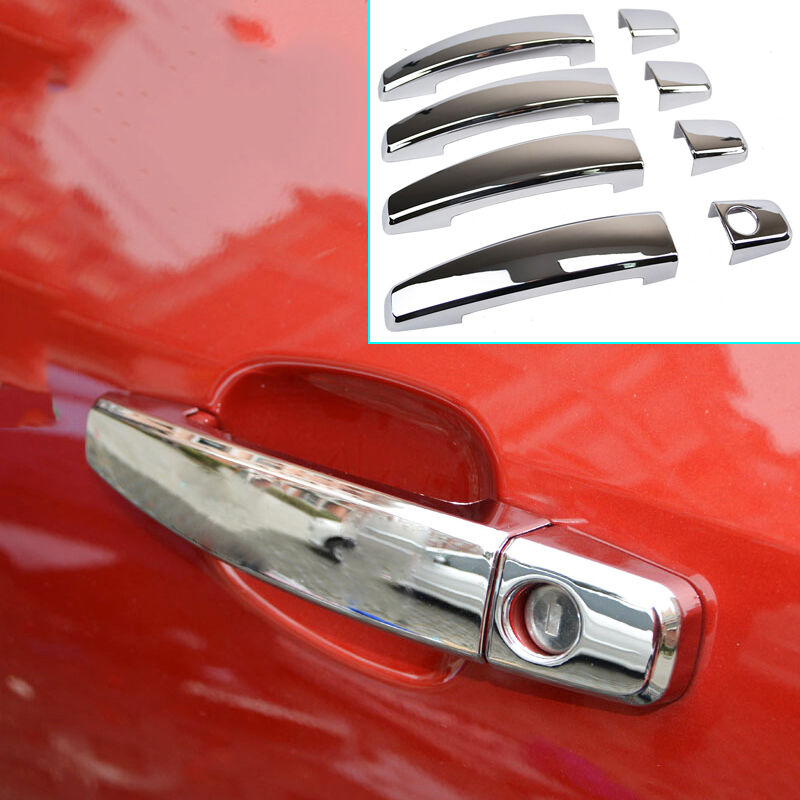 For chevrolet buick chrome side door handle bar cover trim molding cap