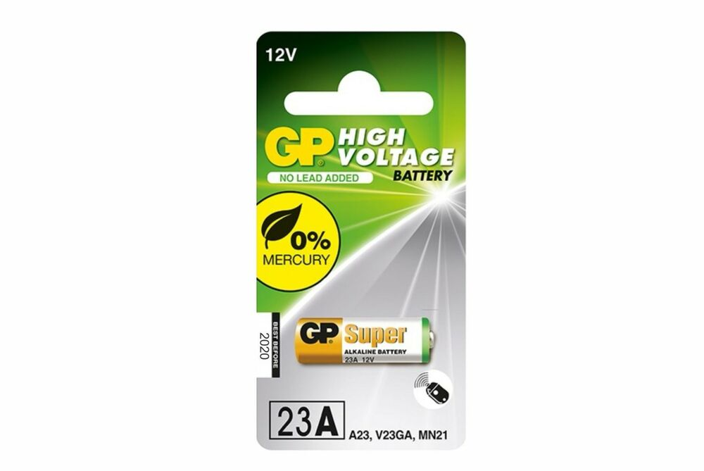 Gp a23 12volt alkaline battery 23ae v23ga mn21 lighter for 12 volt door chime
