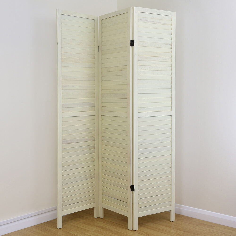 slat room divider home privacy screen separator partition ebay