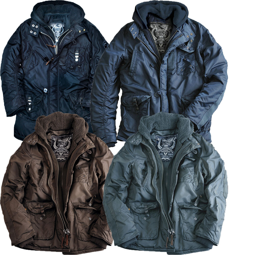 alpha industries cobbs 2 winter parka coat jacket ebay. Black Bedroom Furniture Sets. Home Design Ideas