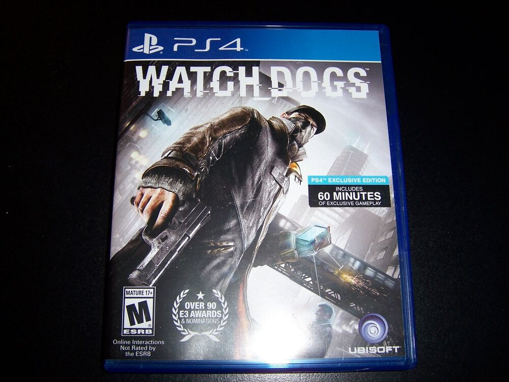 Replacement Case (NO GAME) WATCHDOGS PS4, KINGDOM HEARTS ...