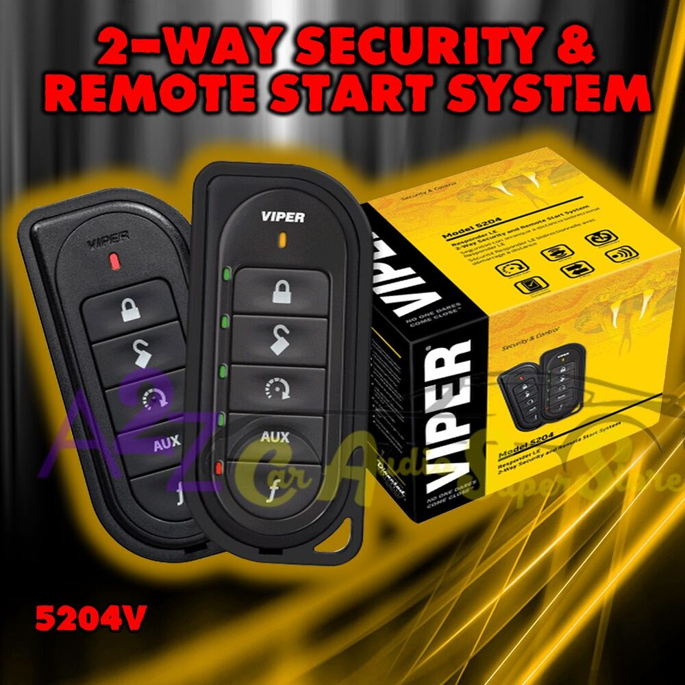 VIPER 5204V LE 2 WAY CAR ALARM AND REMOTE START SYSTEM
