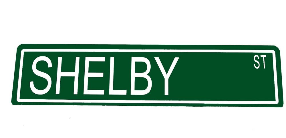 Personalised Metal Man Cave Signs : Street sign custom metal quot shelby st man cave garage car