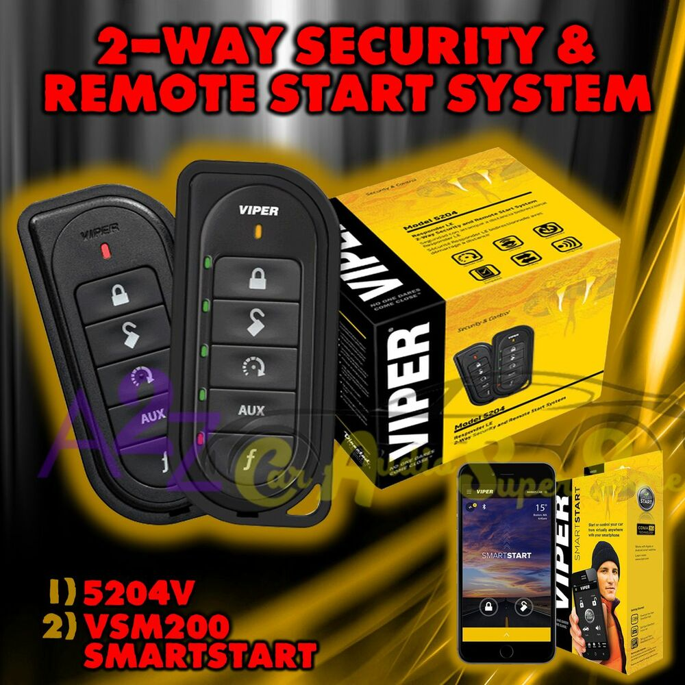 VIPER 5204V LE 2 WAY CAR ALARM AND REMOTE START WITH