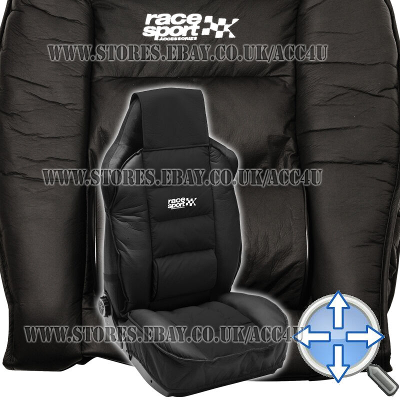 Race Sport Black Luxury Padded Lumbar Side Support Car