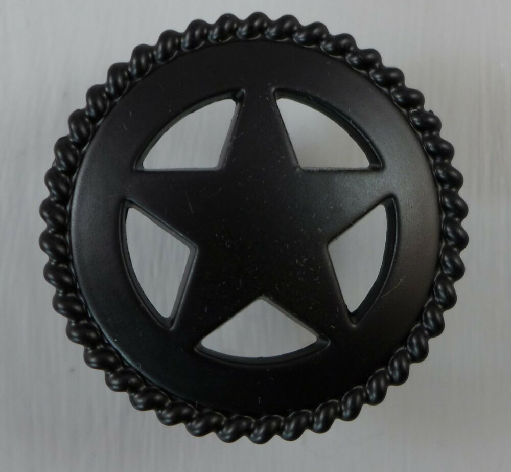 Texas star rope cabinet drawer knob pull western decor for Star cabinet pulls
