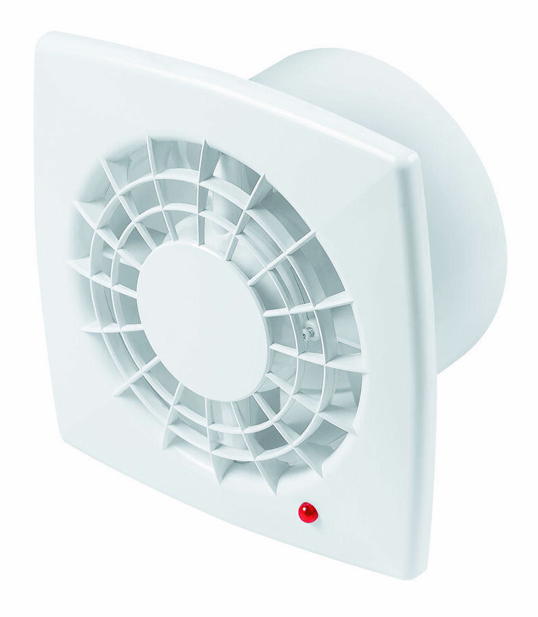 "Bathroom Extractor Fan 100mm / 4"" Humidity Sensor & Timer Kitchen White WGB100H"