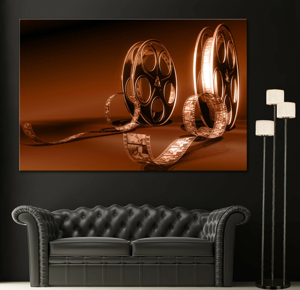 Canvas print movie film reel fine home wall art prints for Art wall decoration