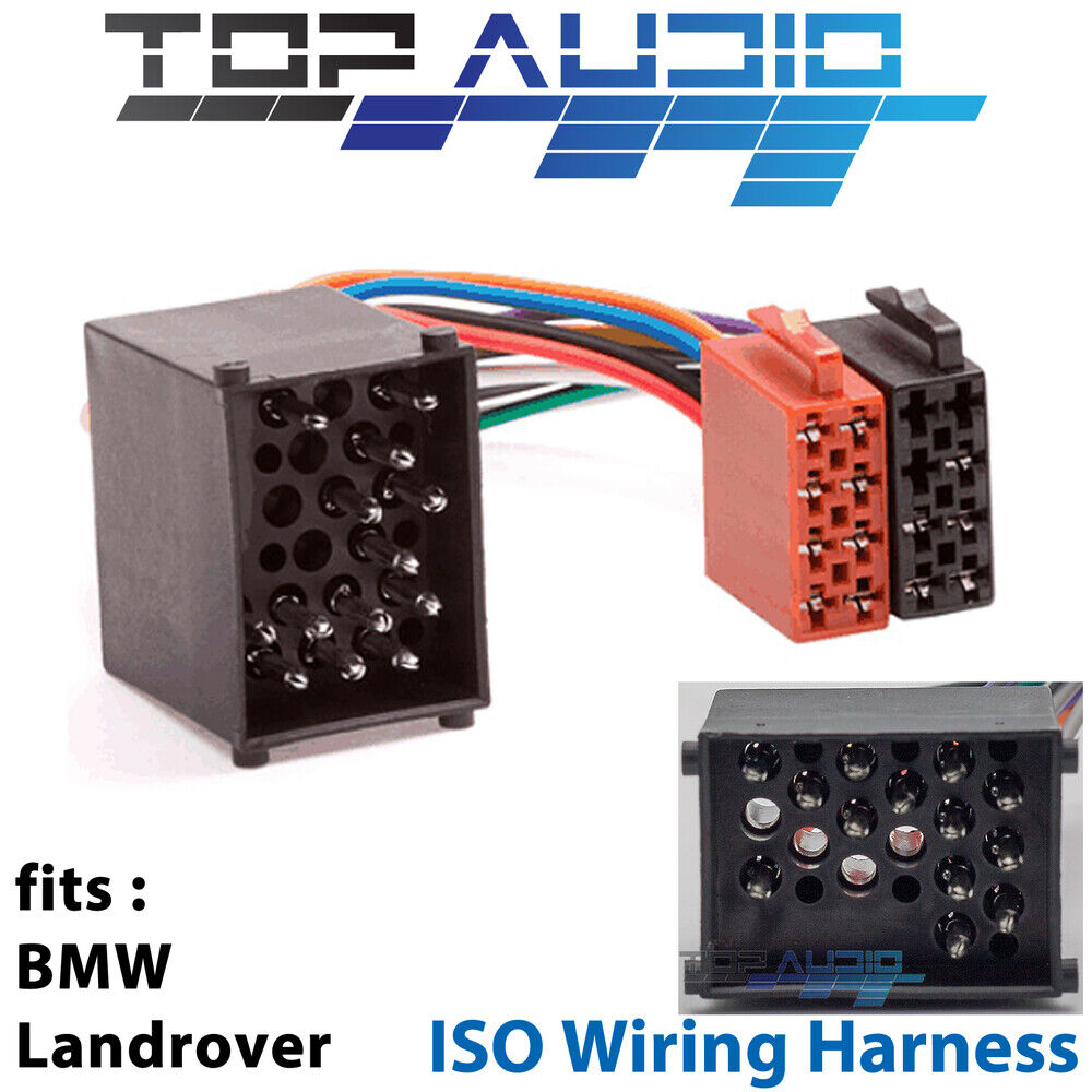 Fit Bmw Iso Wiring Harness Adaptor Cable Connector Lead Loom Plug E30 Connectors Wire Ebay