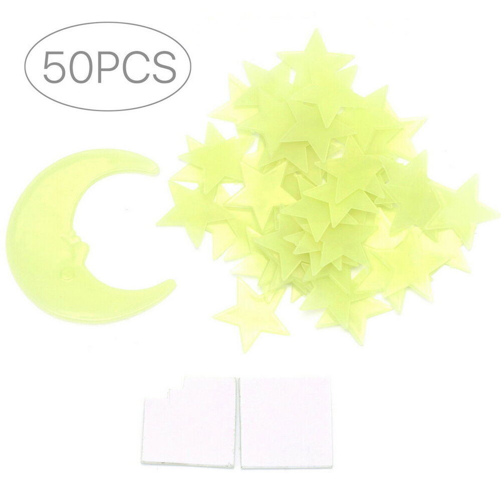Sg 50 Glow In The Dark Star And Moon Shapes For Ceiling
