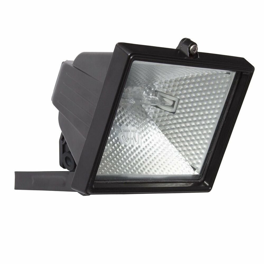 Outside Halogen Wall Lights : 400W Garden Halogen Floodlight-Black Outside Security Light + FREE Bulb/P&P eBay