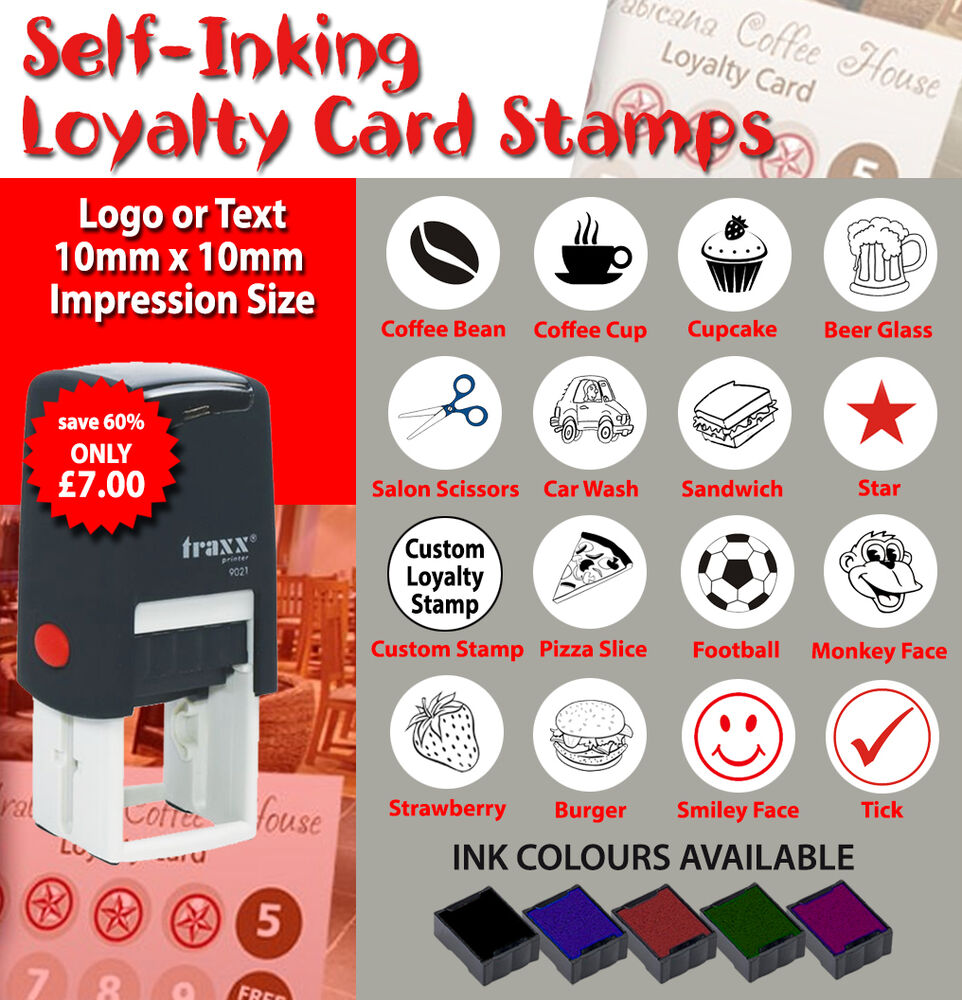 Self Inking Loyalty Card Rubber Stamps | eBay