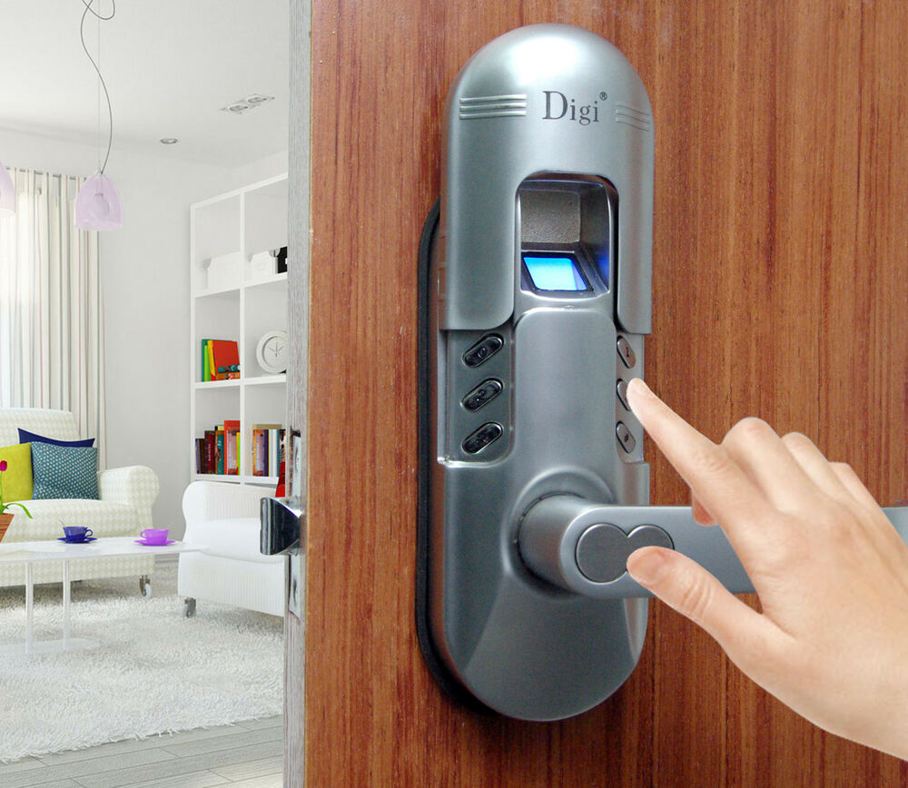 weatherproof digital keypad and fingerprint door lock home use 6600 98 chrom. Black Bedroom Furniture Sets. Home Design Ideas
