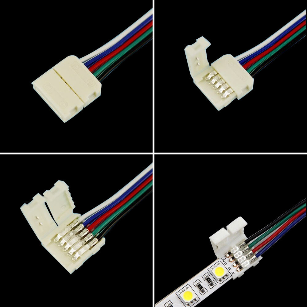 4pin 5pin Rgb Rgbw Connectors With Cable For 5050 Rgb Rgbw