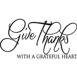 Give thanks with a grateful Heart wall vinyl decal