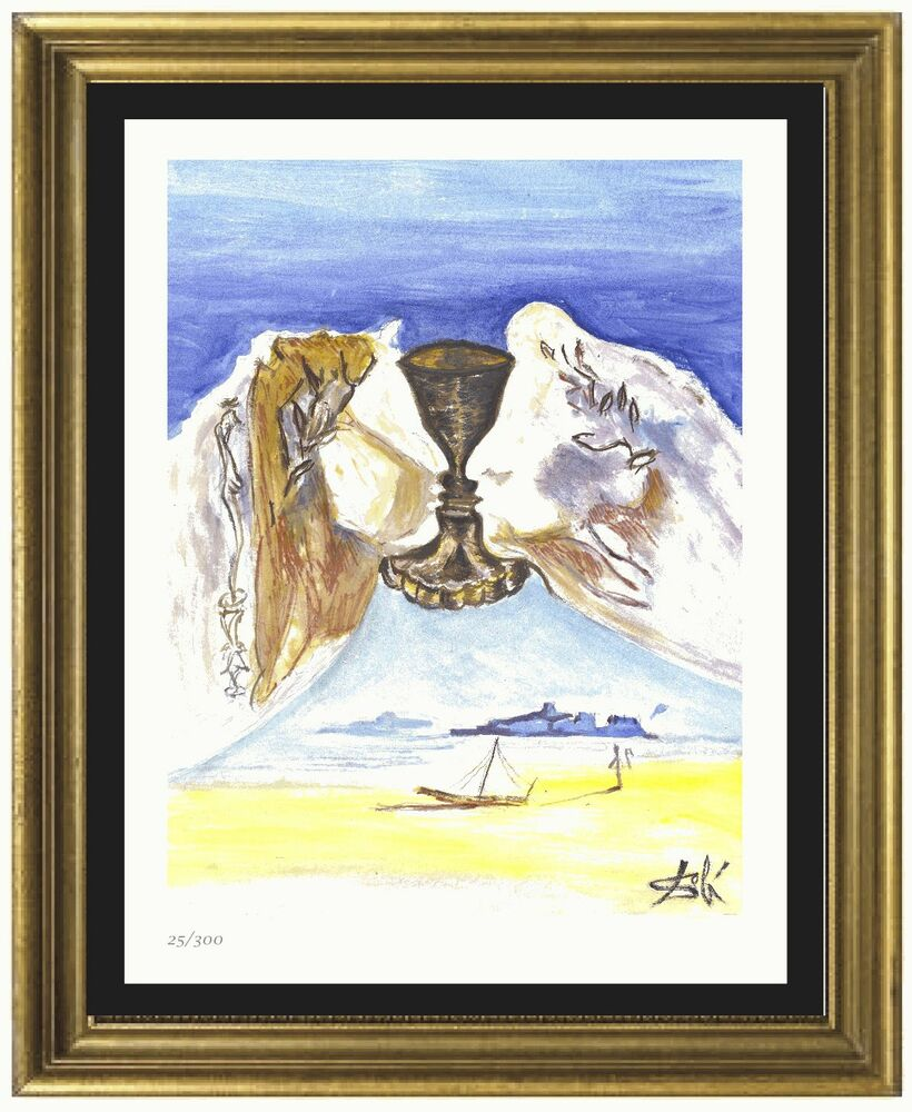 "Salvador Dali Signed & Hand-Numbered Ltd Ed ""Chalice of ..."