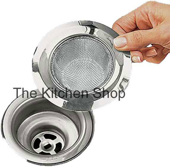Sink tub strainer screen stainless steel fits 3 3 1 2 for 2 kitchen sink drain