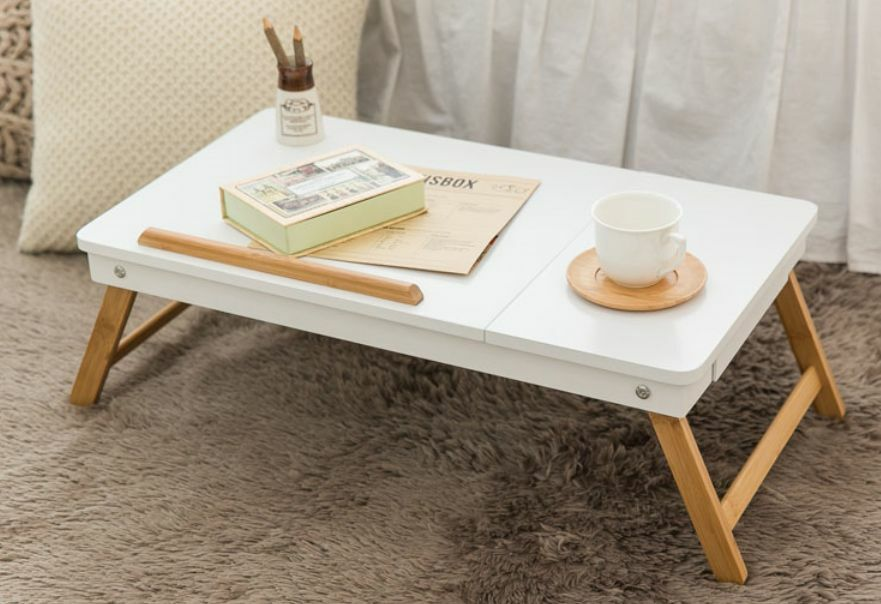Wooden Reading Table ~ Folding floor table desk compact size wooden low tea