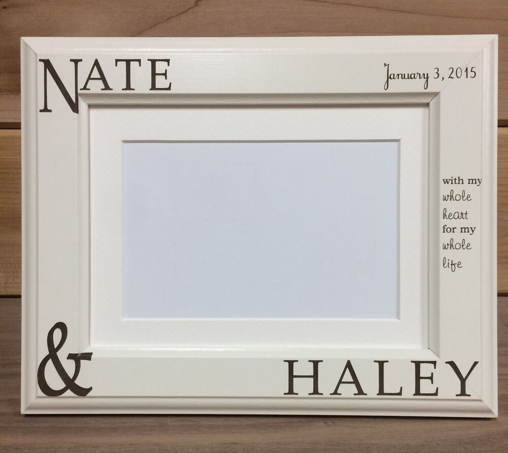 Couple Names Picture Frame 4x6 Amp 5x7 Laser Engraved