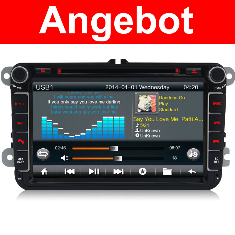 autoradio dvd gps f r vw touran golf 5 6 caddy passat b6 skoda eos seat tiguan ebay. Black Bedroom Furniture Sets. Home Design Ideas
