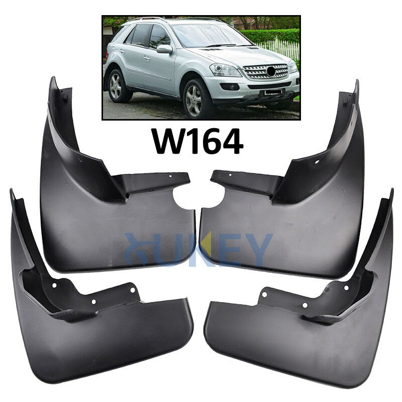 Set fit for 06 11 benz m class w164 ml350 ml500 mudflaps for Mercedes benz ml350 mud flaps