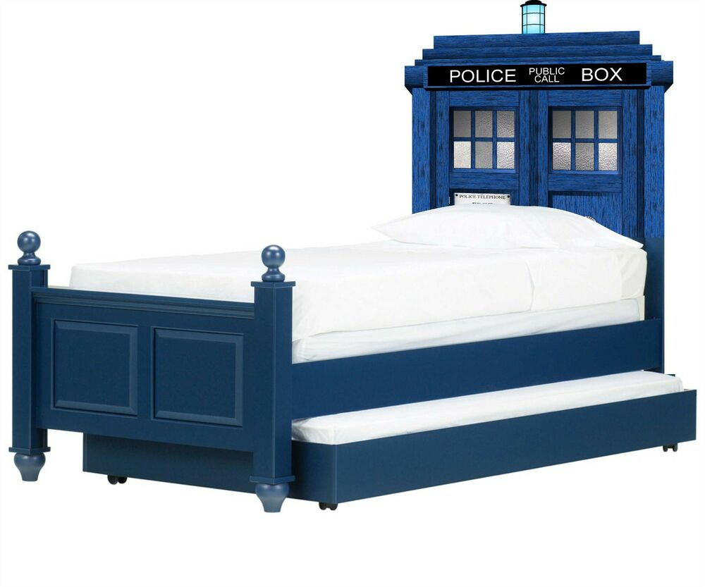 Doctor who tardis headboard wall vinyl repositionable for Bed frame wall decal
