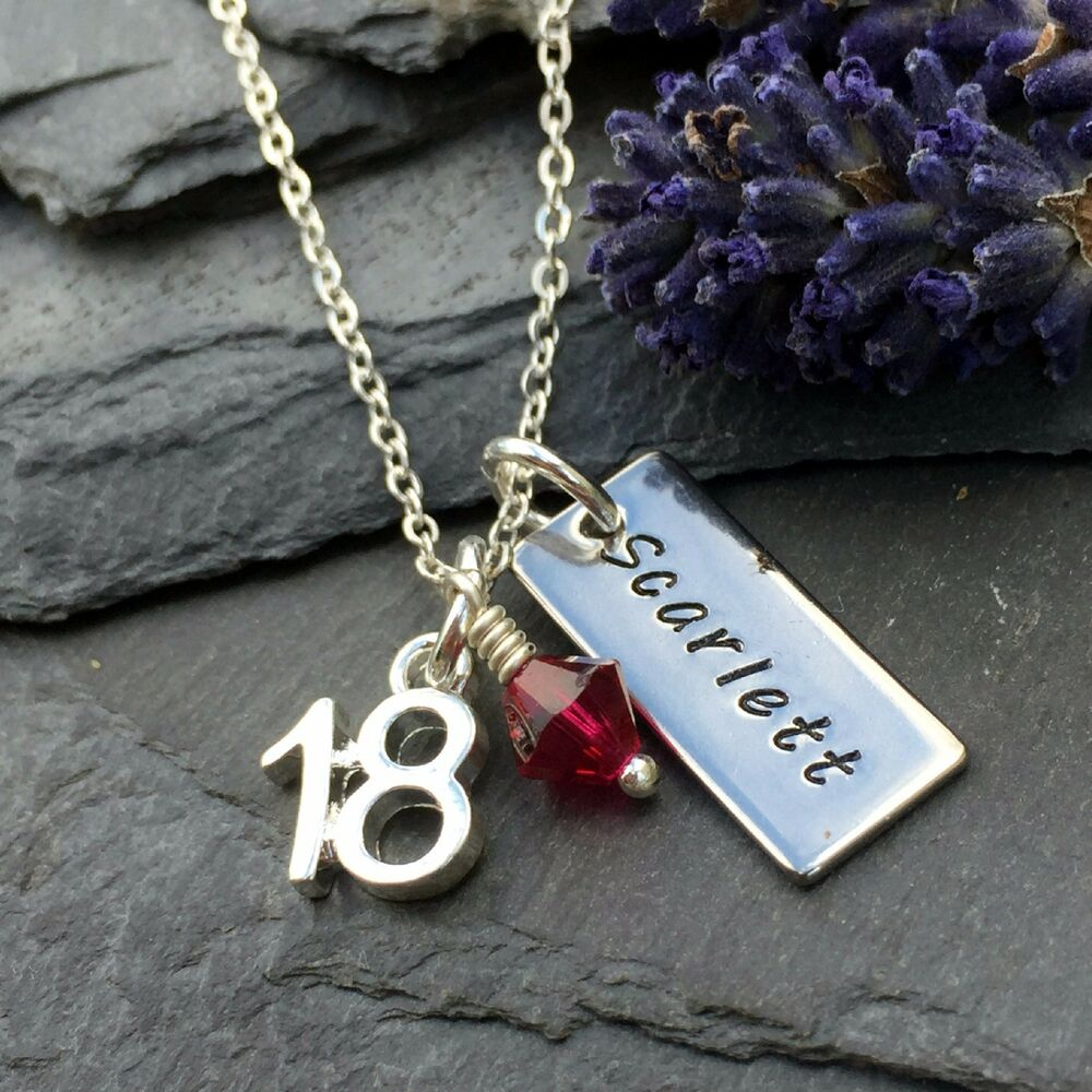Personalised 18th Birthday Necklace, Personalised