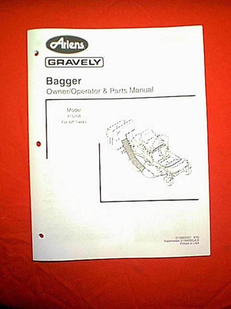 Gravely Ztxl 54 Owners manual