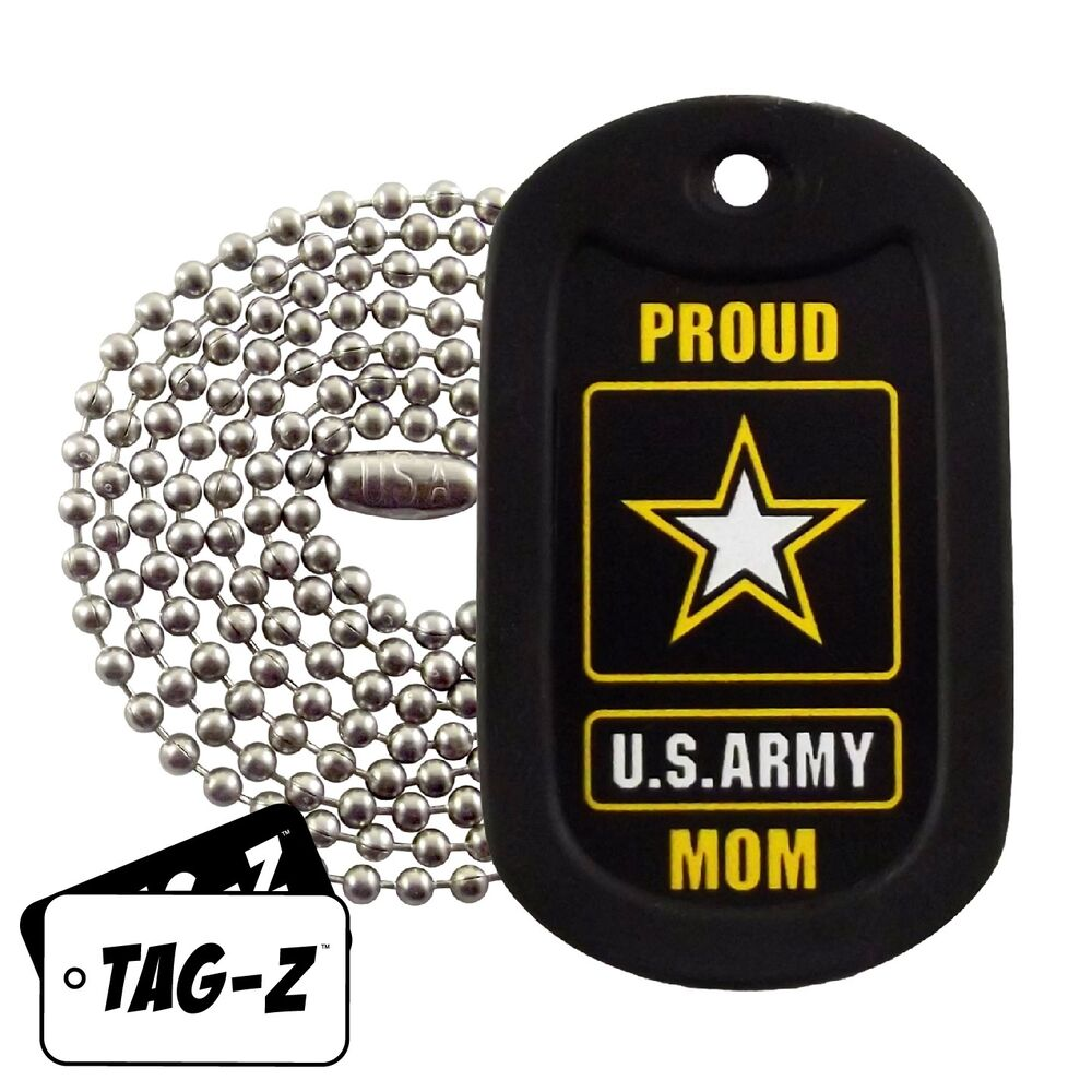 Military Dog Tag Necklace - Proud U.S. Army Mom Dog Tag ...